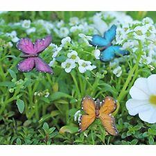 Butterfly in Flight set  3 WS 1444 Butterflies Miniature Fairy Garden Dollhouse