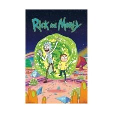 Rick and Morty Cover Wall Poster Cartoon Network Adult Swim 22.375 x 34 Portal