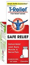 T-Relief Pain Relief 100 Tablets Safe Relief of Joint, Back, and Muscle Pain.