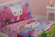 4 pc Sanrio Hello Kitty Toddler Microfiber Bed Set NIP