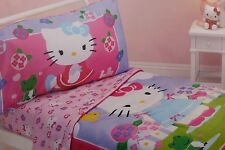 4 pc Sanrio Hello Kitty Toddler Microfiber Bed Set NIP
