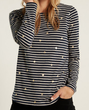 New Ex White Stuff Star in the Stripe NAVY Jersey T-Shirt Casual Was £35 Now £16