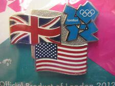 LOT of 25 PINS - London 2012 Olympic Pin - UK & USA Flag