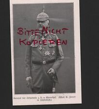 1917, Abbildung General der Infanterie z. D. v. Ehrenthal WWI