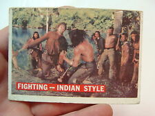 vintage1950's  DAVY CROCKETT CARD (orange)--FIGHTING INDIAN STYLE 33