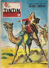 JOURNAL DE TINTIN N°525 - 13 NOVEMBRE 1958 COUVERTURE FUNKEN, COLONEL LAWRENCE