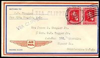 PHILIPPINES TO USA - PAN AMERICAN Cover 1937 VF