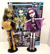 Monster High Power Ghouls Lot Set Voltageous Polterghoul Wonderwolf