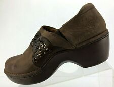 Ariat Clogs Brown Leather Casual Slip On Shoes Comfort Womens Size US 11 B