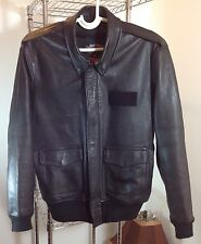 Gibson & Barnes American Airlines Black Leather Jacket  44R
