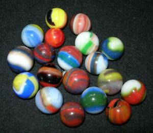 Vintage Marble King Mixed Marble Grouping (19)