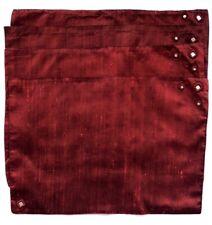 4 Pier 1 Deep Garnet Silk Dupioni Placemats Red Mirrors Ethnic Holiday Christmas