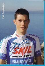 CYCLISME carte cycliste PIET ROOIJAKKERS équipe SKILL SHIMANO  signée