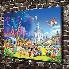 HD Canvas Print Paintings Disney Castle Home Decor Wall Art Pictures Posters