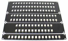 "24 Port 19"" Rack Mount Keystone Frame Panel for Data Cabinets, Patch Connections"