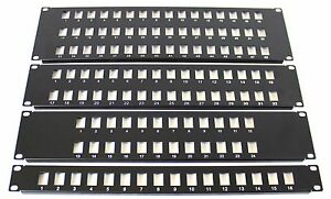 """48 Port 19"""" Rack Mount Keystone Frame Panel for Data Cabinets, Patch Connections"""
