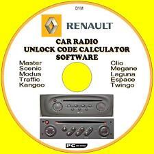 RENAULT AUTO Stereo / Radio codice recupero sblocco Decode NUOVO CD CLIO MEGANE LAGUNA