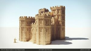 Tabletop Terrain Castle 28mm For Warhammer/Age Of Sigmar / Dnd