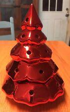 "Ceramic Christmas Tree~uses Tealight Candles~6 3/4"" Tall"