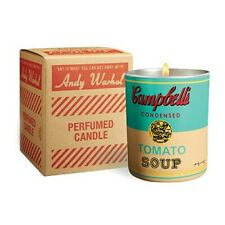 Andy Warhol Perfumed Candle 40Hour Burn Time Christmas Campbell Turquoise/yellow