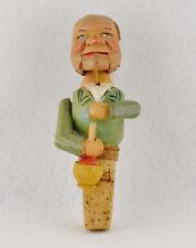"Anri Wooden Machanical Bottle Stopper The Drinker (4 3/4"" Long)"