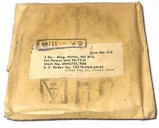 Segment de rechange pour piston groupe électrogène PE-75 US NOS NIB de 1944