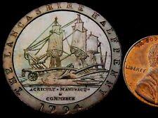 T547: 1794 Conder Token : Eccleston Halfpenny in abt Unc grade : D&H Lancs.58