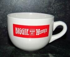 Wendy's Biggie Size Vintage Advertising Large Giant Mug Bowl Chili RARE