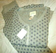 Victoria's Secret Light Weight Thermal PJ SET small  Legging Style Button Shirt