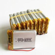 10 pcs 3.7V 850mAh 703040 Lipo Polymer Battery for cell phone Camera DVD GPS PAD