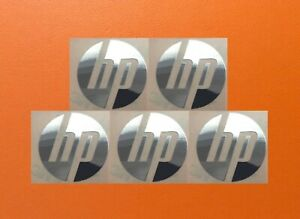 5 Pz HP Skylake Argento Cromo Colore Adesivo Logo Calcomania Distintivo 40mm x
