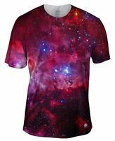 Yizzam UK - Great Carina Nebula Red Space Galaxy Mens S/M T-Shirt (UK dispatch)