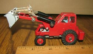 Dinky Toys No 437 Muir-Hill Taylor Woodrow 2WL Wheel Loader Red Die Cast England