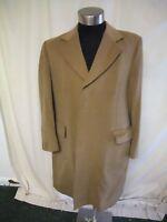 "Mens Coat classic camel size 42"" Reg, length 41"", wool/cashmere NOT PERFECT 2126"
