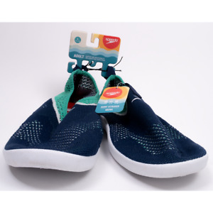 Speedo Original Surf Strider Mens Adult Water Shoes NAVY/GREEN Large 11-12 - NEW
