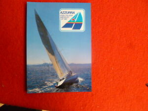 OFFICIAL AZZURRA CHALLENGE AMERICAS CUP POSTCARD  ITALY DAY  PMK1986