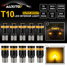10X AMBER 24 SMD CANBUS T10 194 168 2825 LED License Plate Side Marker Dome Bulb