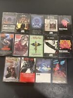 Cassette Tape Lot 14 metal rock AC/DC, Motley Crue, Black Sabbath, Ozzy, + More
