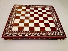 Handmade Indian Inlaid Chess Board With Chess Pieces