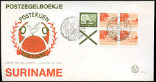 Suriname 1976 Air Booklet Pane FDC First Day Cover #C30170