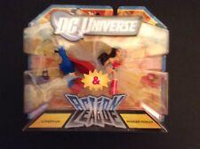 DC Universe - Action League - Superman & Wonder Woman 5cm figures - BNIB