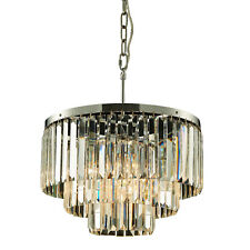 Modern Style Crystal Chandelier with Stainless Steel Base