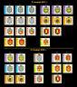 Ukraine 2017 - 2018 Full Set 34 Stamps Emblem of City Stamp 9 Definive Standard