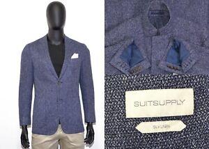 Amazing Men's Suitsupply Havana Unlited Blazer 52IT 42US/UK Silk & Linen Blue