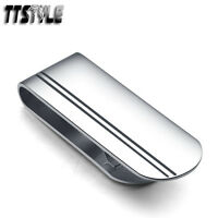 High Quality TTstyle 316L Stainless Steel Black Stripe Money Clip