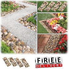 Garden Stone Border Decorative Walkway Bed Stone Edging Set Lawn Plant Stakes