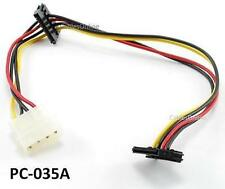 12inch 4-Pin Molex Male to Two 90 Degree SATA 15-Pin Female Power Cable, PC-035A
