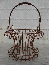 Wrought Iron Tessa Basket  - Flower Planter Pot Holder - 12 Colors