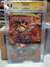 CGC SS JLA AVENGERS 2 9.8 SIGNED BY GEORGE PEREZ