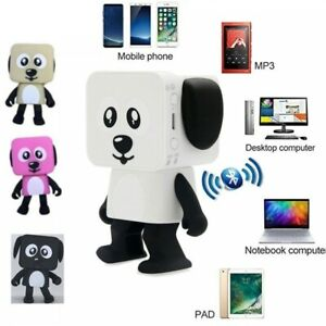 Wireless Bluetooth Dancing Robot Dog Speaker Stereo Bass Speakers Toy Gift Fun